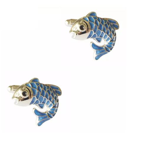 Manžetové gombíky ryby