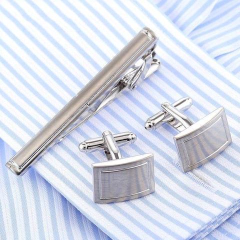 Manžetové gombíky so sponou na kravatu traditional - 1