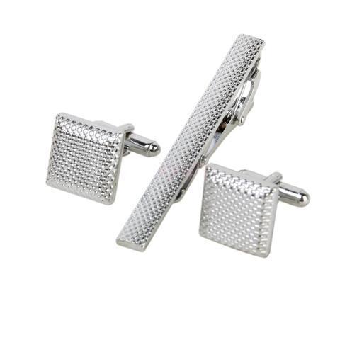 Oceľové manžetové gombíky s kravatovou sponou Colorado - 1