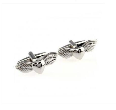 Manžetové gombíky anjelské krídla