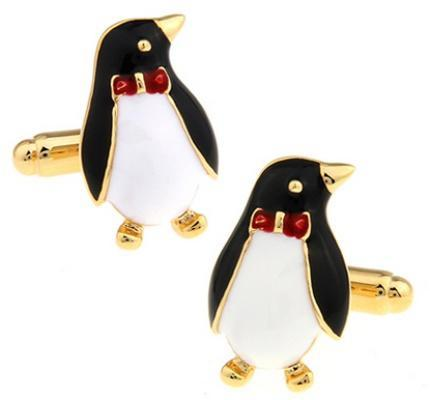 Manžetové gombíky tučniak s motýlikom - 1