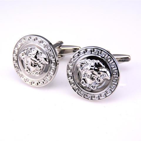 Manžetové gombíky Versace silver