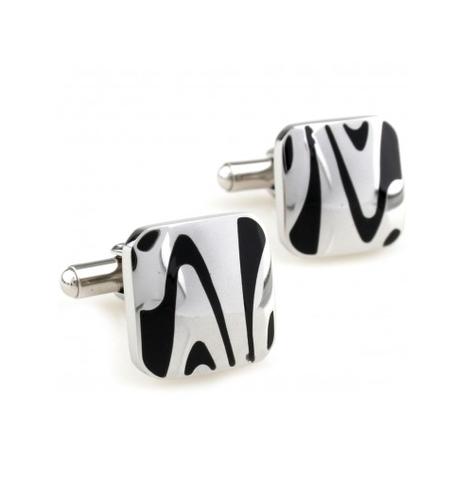 Manžetové gombíky zebra