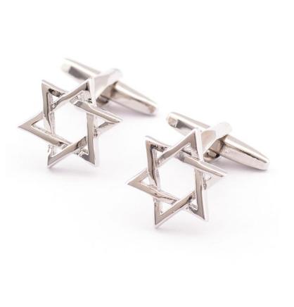 Manžetové gombíky židovská hviezda - 1