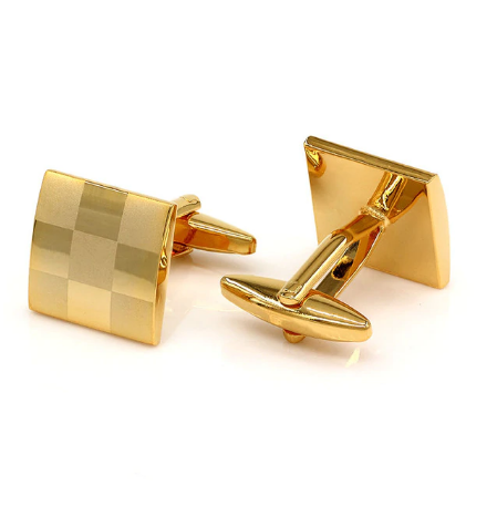 Manžetové gombíky šachovnica gold - 1