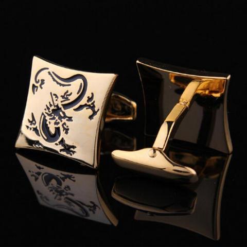 Manžetové gombíky drak gold