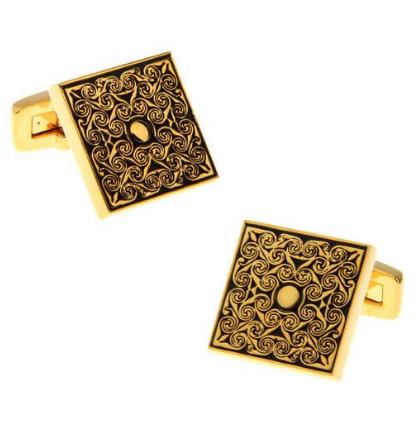 Manžetové gombíky luxusné zlatý ornament - 1
