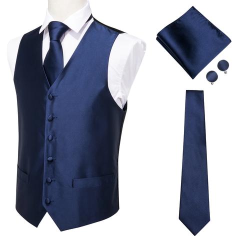 Modrá vesta k obleku s doplnkami - 1