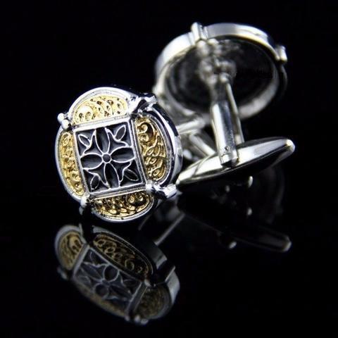 Manžetové gombíky zlatý ornament