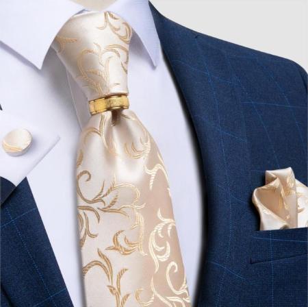 Manžetové gombíky s kravatou Hélios