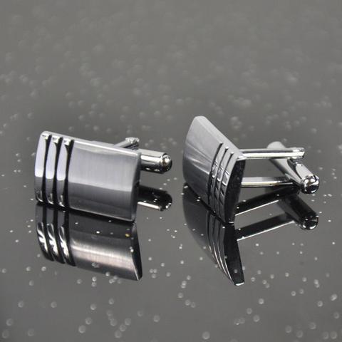 Manžetové gombíky ocel - tri pružky