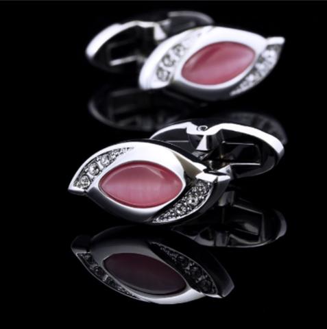 Manžetové gombíky Vintage pink - 2