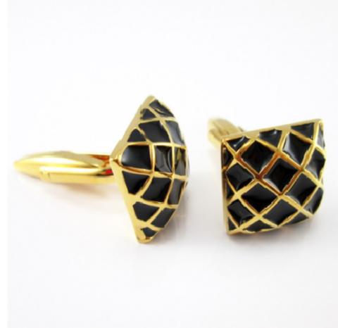 Manžetové gombíky zlatá mriežka - 2