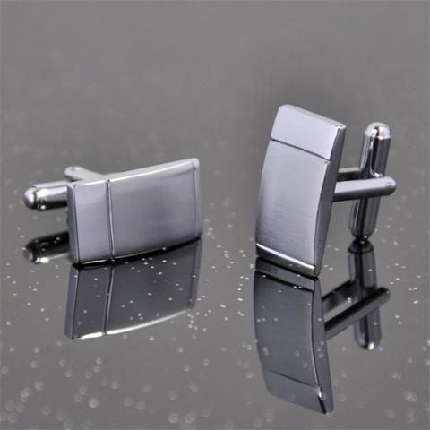 Manžetové gombíky ocel - obdlžlník - 2
