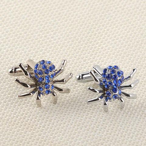 Manžetové gombíky modrý pavúčik - 2
