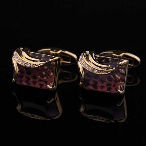 Manžetové gombíky Elefant - kráľovská fialová - 2