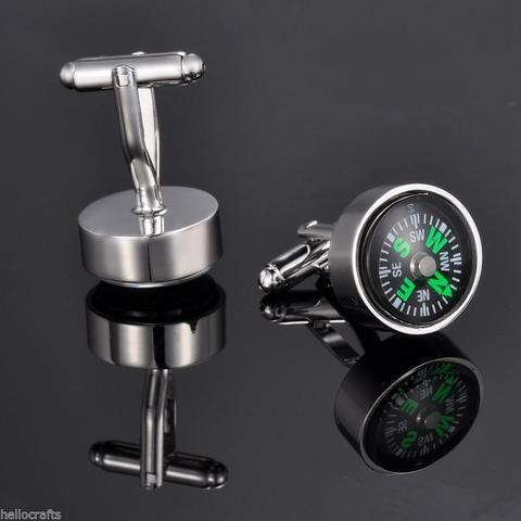 Manžetové gombíky pohyblivý kompas - 2