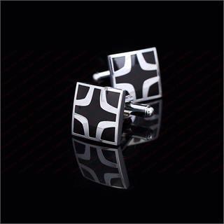 Manžetové gombíky bludisko čierny kríž - 2