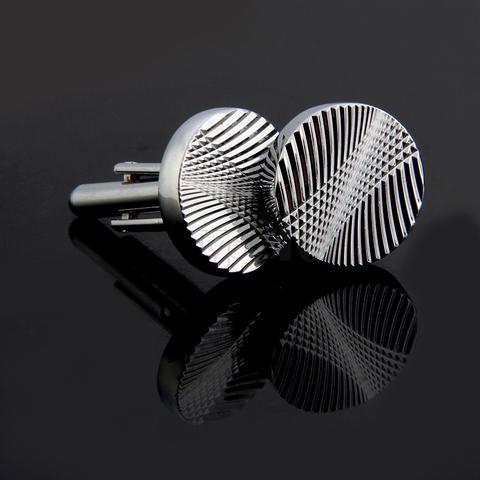 Manžetové gombíky kruhového tvaru - razba - 2