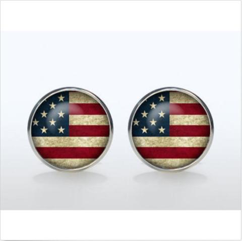 Manžetové gombíky farebné USA - 2