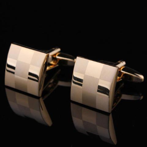 Manžetové gombíky šachovnica gold - 2