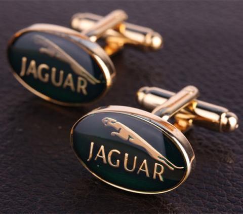 Manžetové gombíky Jaguar gold - 2