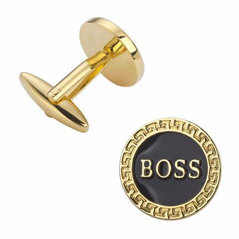 Manžetové gombíky BOSS gold - 2