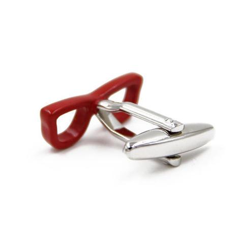 Manžetové gombíky červené okuliare - 2