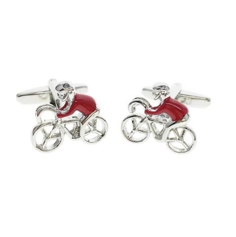 Manžetové gombíky červený cyklista - 2