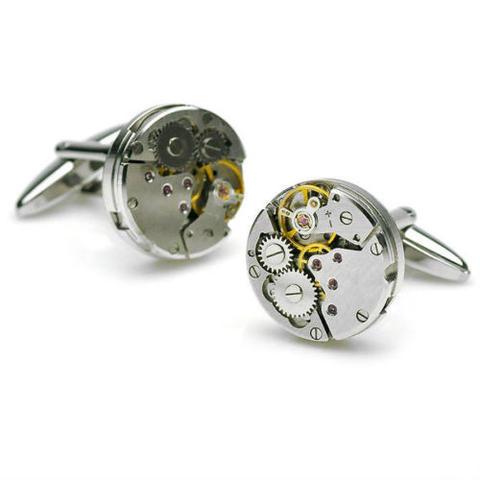 Manžetové gombíky hodinový strojček - 2