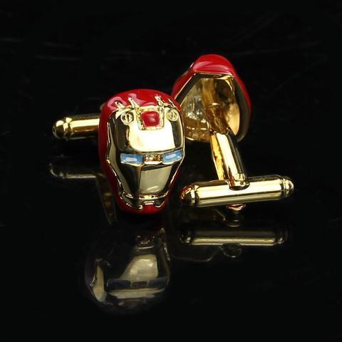 Manžetové gombíky Iron Man gold - 2