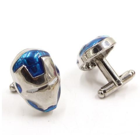 Manžetové gombíky Iron Man modre - 2
