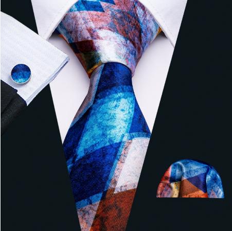 Manžetové knoflíčky s kravatou Plútós - 2