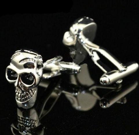 Manžetove gombiky lebka - skeleton - 2
