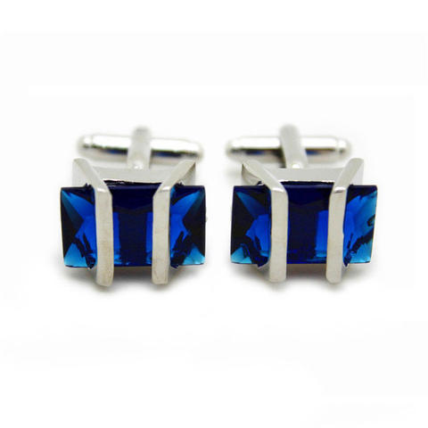 Manžetové gombíky Gemstone modrý - 2