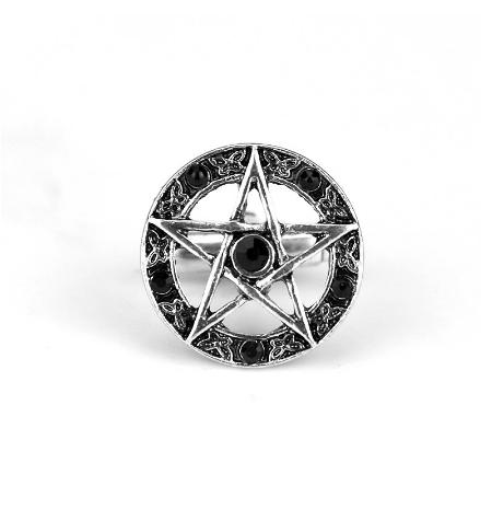 Manžetové gombíky päťcípa hviezda pentagram - 2