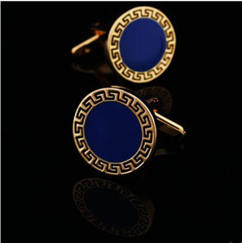 Manžetové gombíky grécky znak modré - 2