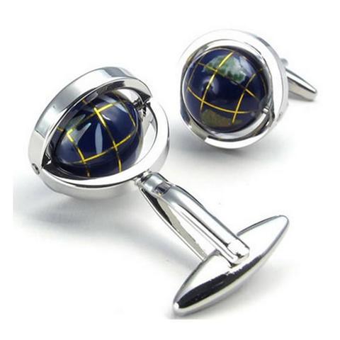Manžetové gombíky rotujúce globus - 2