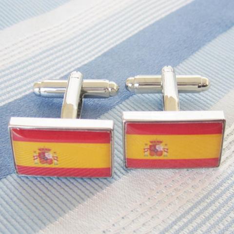 Manžetové gombíky Španielska vlajka - 2