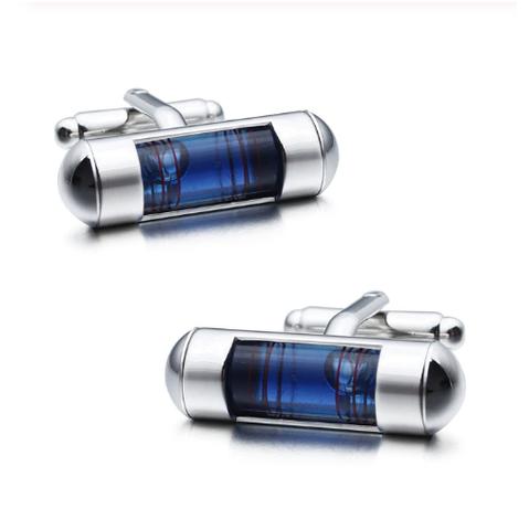 Manžetové gombíky so sponou na kravatu vodováha - 2