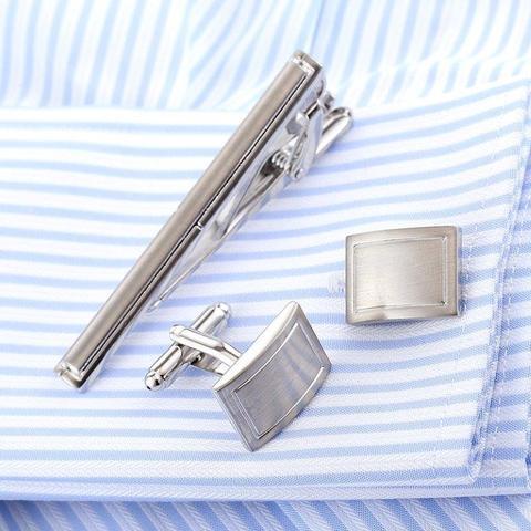 Manžetové gombíky so sponou na kravatu traditional - 2