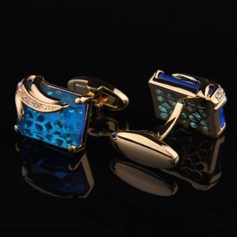 Manžetové gombíky svetlo modrý kryštál - 2