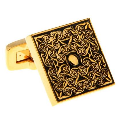 Manžetové gombíky luxusné zlatý ornament - 2