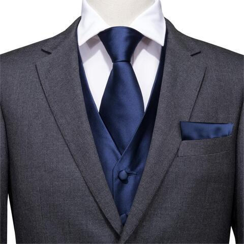 Modrá vesta k obleku s doplnkami - 2