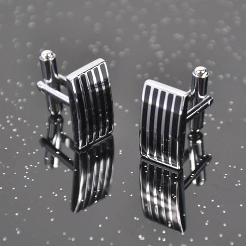 Manžetové gombíky ocel - prúžky - 2