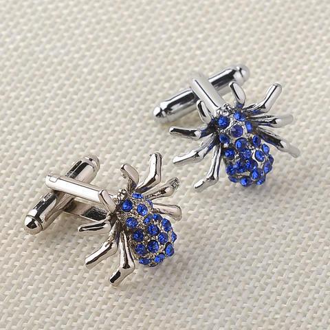Manžetové gombíky modrý pavúčik - 3