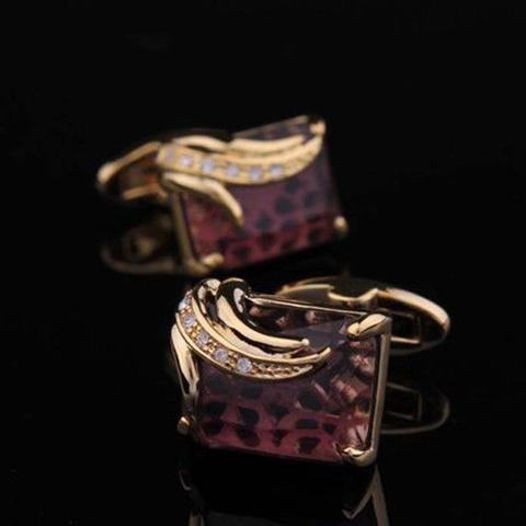 Manžetové gombíky Elefant - kráľovská fialová - 3