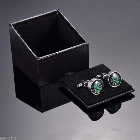 Manžetové gombíky pohyblivý kompas - 3