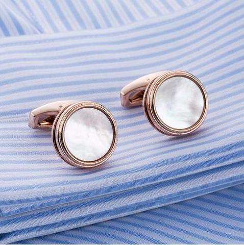 Manžetové gombíky perleť natur - 3