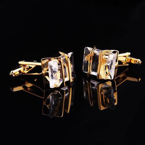 Manžetové gombíky Gemstone zlato-bielej - 3